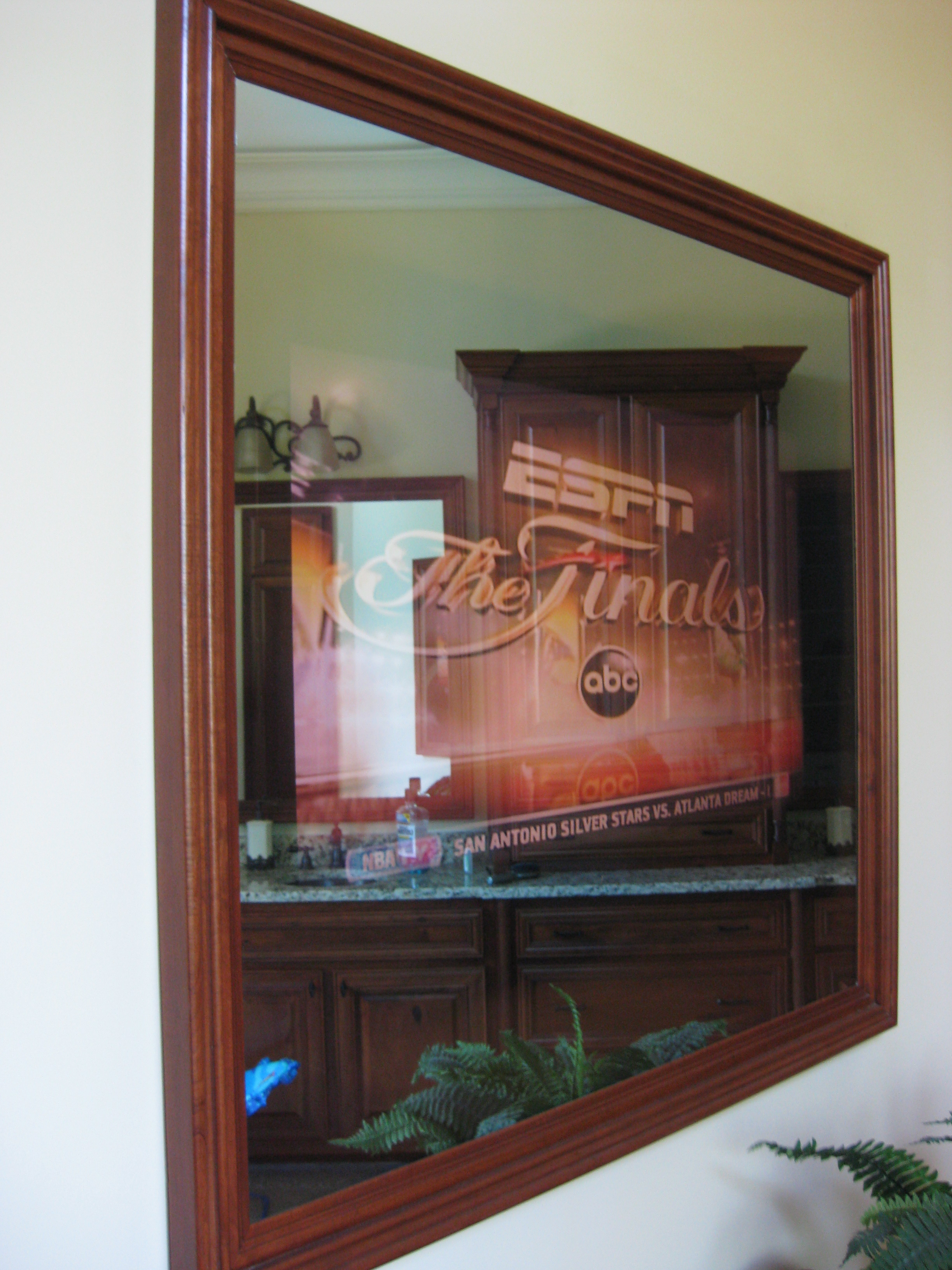 How To Put A Tv Behind Two Way Mirror Designs