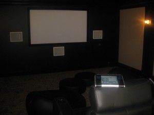 Noah theaterwith Solus ribbon in wall speakers